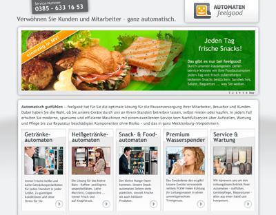 Microsite für Automaten von feelgood